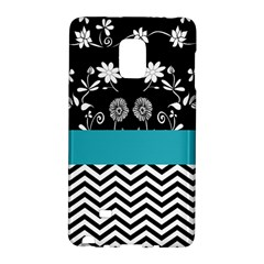Flowers Turquoise Pattern Floral Galaxy Note Edge by BangZart