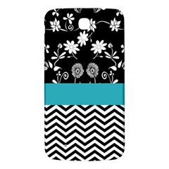 Flowers Turquoise Pattern Floral Samsung Galaxy Mega I9200 Hardshell Back Case by BangZart