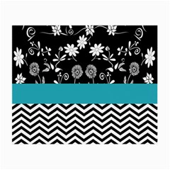 Flowers Turquoise Pattern Floral Small Glasses Cloth