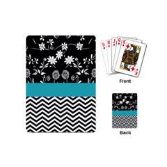 Flowers Turquoise Pattern Floral Playing Cards (mini)  by BangZart