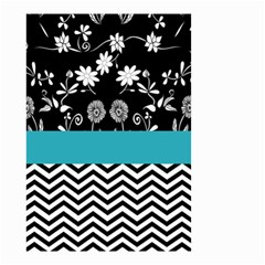 Flowers Turquoise Pattern Floral Small Garden Flag (two Sides) by BangZart