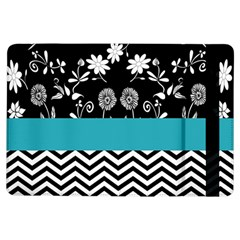 Flowers Turquoise Pattern Floral Ipad Air Flip by BangZart