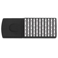 Pattern Background Texture Black Usb Flash Drive Rectangular (4 Gb) by BangZart