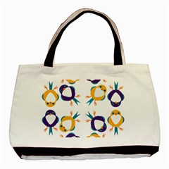 Pattern Circular Birds Basic Tote Bag by BangZart