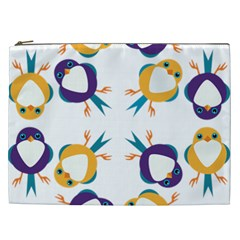 Pattern Circular Birds Cosmetic Bag (xxl)  by BangZart