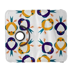 Pattern Circular Birds Galaxy S3 (flip/folio) by BangZart