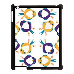 Pattern Circular Birds Apple Ipad 3/4 Case (black) by BangZart