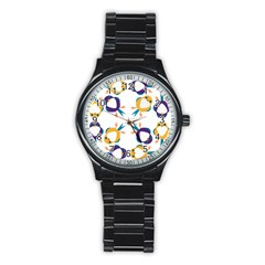 Pattern Circular Birds Stainless Steel Round Watch by BangZart