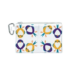 Pattern Circular Birds Canvas Cosmetic Bag (s) by BangZart