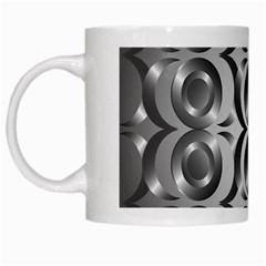 Metal Circle Background Ring White Mugs by BangZart