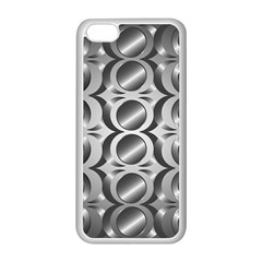 Metal Circle Background Ring Apple Iphone 5c Seamless Case (white) by BangZart