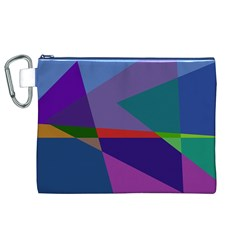 Abstract #415 Tipping Point Canvas Cosmetic Bag (xl) by RockettGraphics