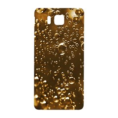 Festive Bubbles Sparkling Wine Champagne Golden Water Drops Samsung Galaxy Alpha Hardshell Back Case by yoursparklingshop
