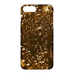 Festive Bubbles Sparkling Wine Champagne Golden Water Drops Apple Iphone 7 Plus Hardshell Case by yoursparklingshop