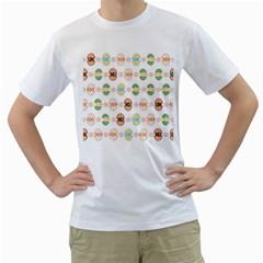 Cute Eggs Pattern Men s T-Shirt (White)