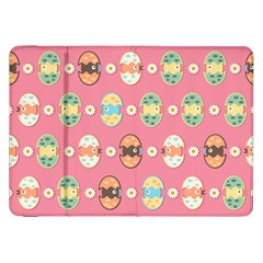 Cute Eggs Pattern Samsung Galaxy Tab 8 9  P7300 Flip Case by linceazul