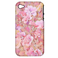 Lovely Floral 36a Apple Iphone 4/4s Hardshell Case (pc+silicone) by MoreColorsinLife