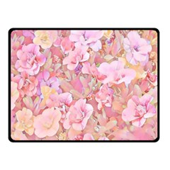 Lovely Floral 36a Double Sided Fleece Blanket (small)  by MoreColorsinLife