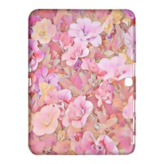 Lovely Floral 36a Samsung Galaxy Tab 4 (10 1 ) Hardshell Case  by MoreColorsinLife