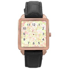 Lovely Floral 36c Rose Gold Leather Watch  by MoreColorsinLife