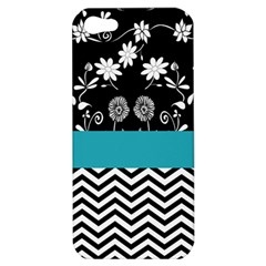 Flowers Turquoise Pattern Floral Apple Iphone 5 Hardshell Case by BangZart