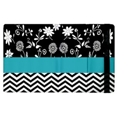Flowers Turquoise Pattern Floral Apple Ipad 3/4 Flip Case by BangZart