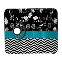 Flowers Turquoise Pattern Floral Galaxy S3 (flip/folio) by BangZart