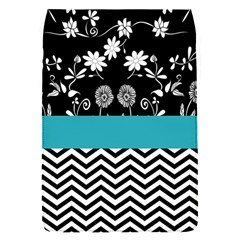 Flowers Turquoise Pattern Floral Flap Covers (s)  by BangZart