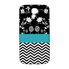 Flowers Turquoise Pattern Floral Samsung Galaxy S4 I9500/i9505  Hardshell Back Case by BangZart