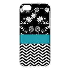 Flowers Turquoise Pattern Floral Apple Iphone 5c Hardshell Case by BangZart