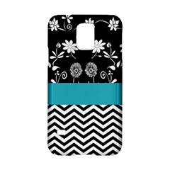 Flowers Turquoise Pattern Floral Samsung Galaxy S5 Hardshell Case  by BangZart
