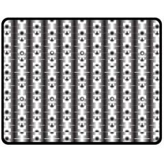 Pattern Background Texture Black Fleece Blanket (medium)  by BangZart