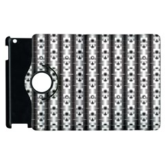 Pattern Background Texture Black Apple Ipad 3/4 Flip 360 Case by BangZart