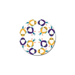 Pattern Circular Birds Golf Ball Marker (4 Pack) by BangZart