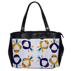 Pattern Circular Birds Office Handbags by BangZart