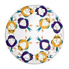 Pattern Circular Birds Ornament (round Filigree) by BangZart