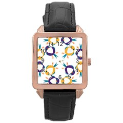Pattern Circular Birds Rose Gold Leather Watch  by BangZart