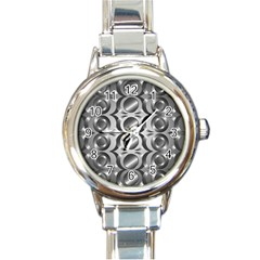 Metal Circle Background Ring Round Italian Charm Watch by BangZart