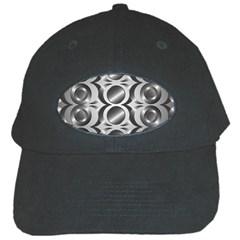 Metal Circle Background Ring Black Cap by BangZart