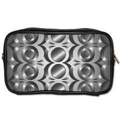 Metal Circle Background Ring Toiletries Bags 2 Side by BangZart