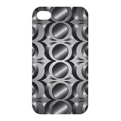 Metal Circle Background Ring Apple Iphone 4/4s Hardshell Case by BangZart