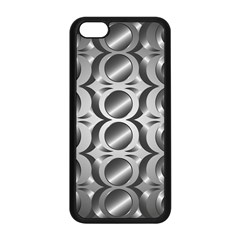 Metal Circle Background Ring Apple Iphone 5c Seamless Case (black) by BangZart