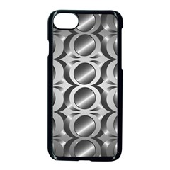 Metal Circle Background Ring Apple Iphone 7 Seamless Case (black) by BangZart
