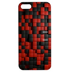 Black Red Tiles Checkerboard Apple Iphone 5 Hardshell Case With Stand by BangZart