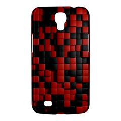 Black Red Tiles Checkerboard Samsung Galaxy Mega 6 3  I9200 Hardshell Case by BangZart