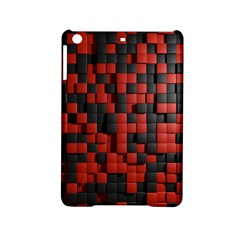 Black Red Tiles Checkerboard Ipad Mini 2 Hardshell Cases by BangZart