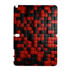 Black Red Tiles Checkerboard Galaxy Note 1 by BangZart