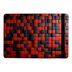 Black Red Tiles Checkerboard Samsung Galaxy Tab Pro 10 1  Flip Case by BangZart