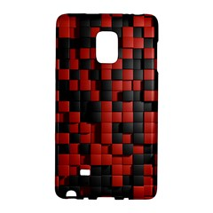 Black Red Tiles Checkerboard Galaxy Note Edge by BangZart
