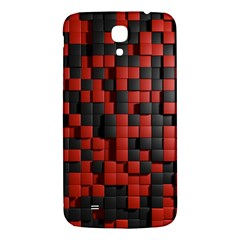 Black Red Tiles Checkerboard Samsung Galaxy Mega I9200 Hardshell Back Case by BangZart